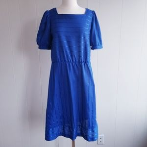 1980s Oops California Royal Blue Dress